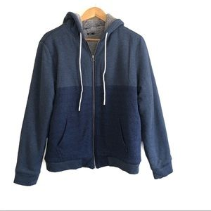 O'Neill Men's Blue Zip-Up Hoodie